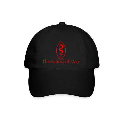 SoM Crest (Red) w/ Text - Baseball Cap