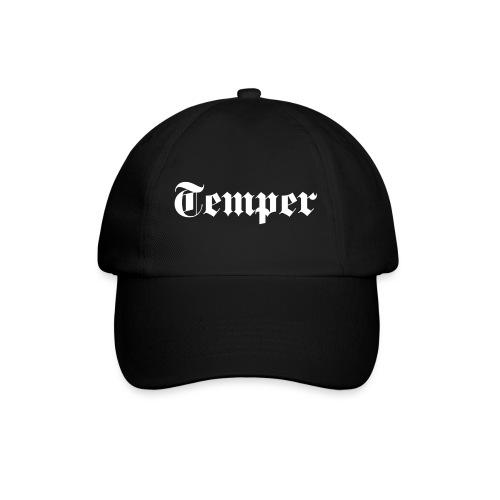 Temper Cap schwarz - Baseballkappe
