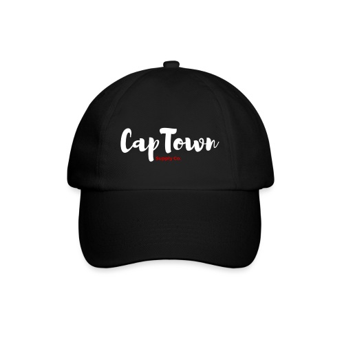Logo CapTown Noir et Rouge png - Casquette classique