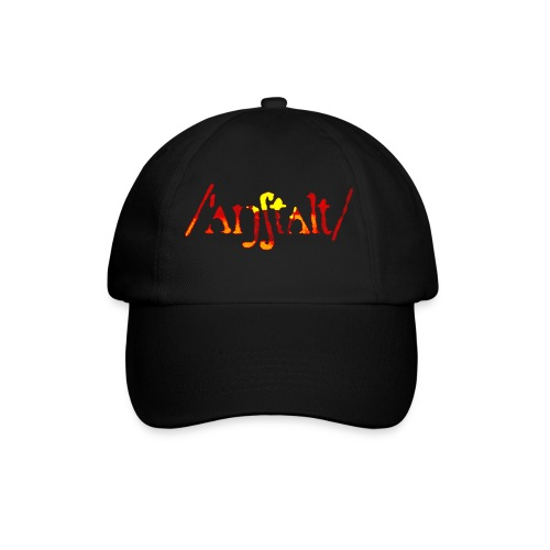 logo gerastert (flamme) - Baseballkappe