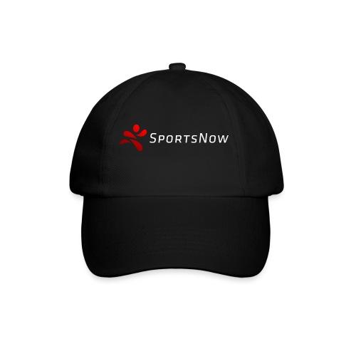 SportsNow-Logo mit weisser Schrift - Baseballkappe