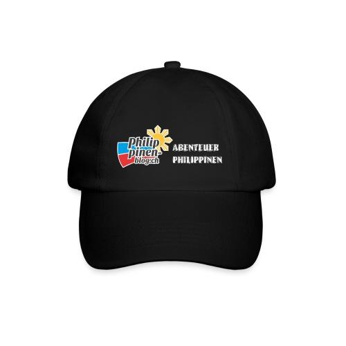 Philippinen-Blog Logo deutsch schwarz/weiss - Baseballkappe