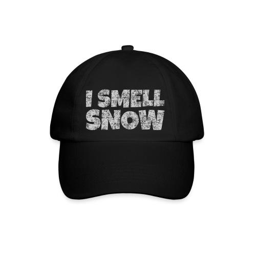 I Smell Snow (Grau) Schnee, Winter, Wintersport - Baseballkappe