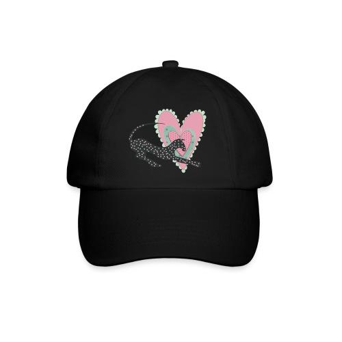 Rosa prickar hjärta - Basebollkeps