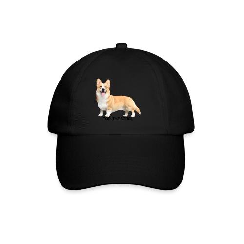 Topi the Corgi - Black text - Baseball Cap