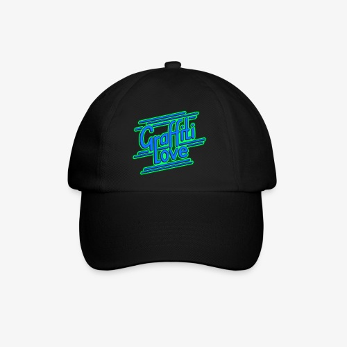 graffiti love type1 blue - Baseballkappe