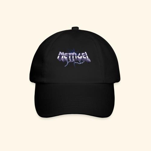 Mettigel T Shirt Design Heavy Metal Schriftzug - Baseballkappe