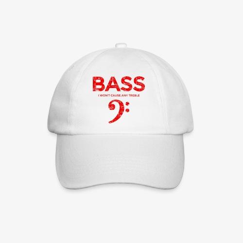 BASS I wont cause any treble (Vintage/Rot) Bassist - Baseballkappe