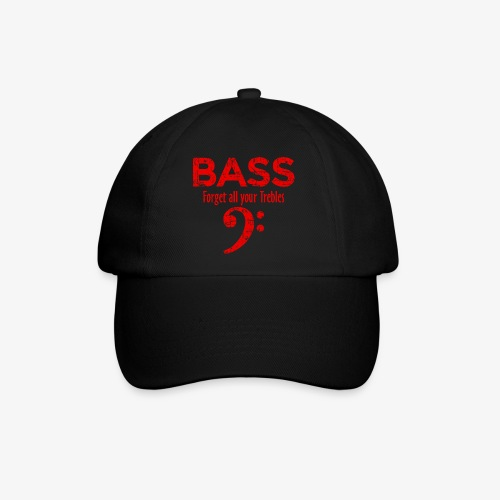 BASS Forget all your trebles (Vintage/Rot) - Baseballkappe