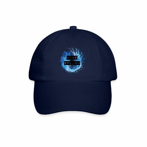 Make a Splash - Aquarell Design in Blau - Baseballkappe