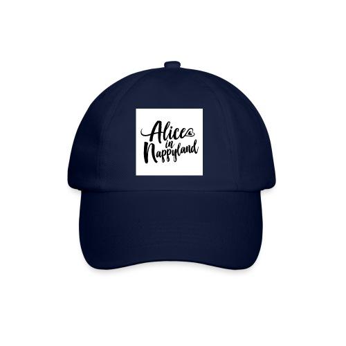 Alice in Nappyland Typography Black 1080 1 - Baseball Cap