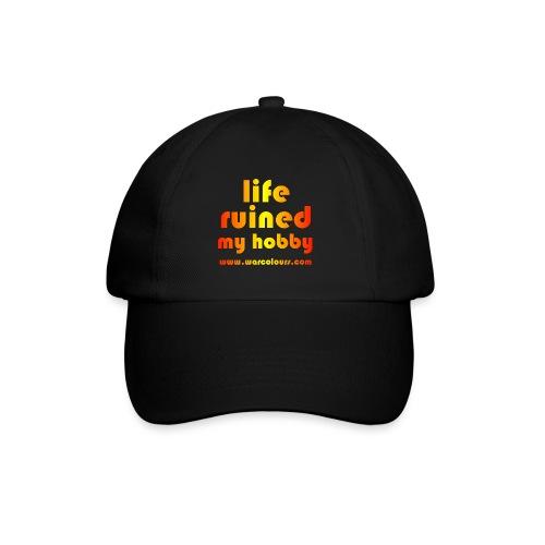 life ruined my hobby sunburst - Baseball Cap