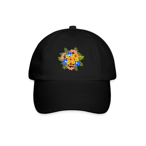 Blue Flower Arragement - Baseball Cap
