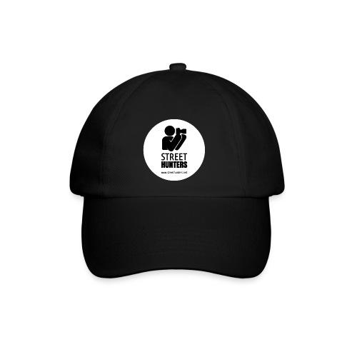 black logo on white circle URL png - Baseball Cap