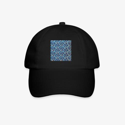 Spirales au motif bleu - Casquette classique
