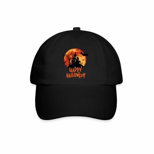 Bloodmoon Haunted House Halloween Design - Baseballkappe
