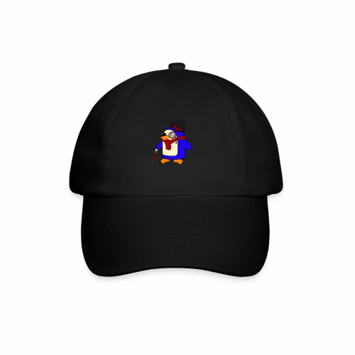 Cute Posh Crimson Red Penguin - Baseball Cap