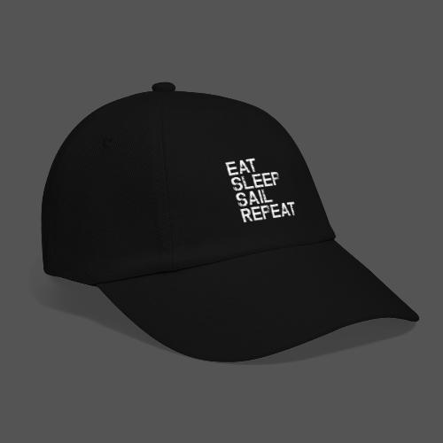 Segel T Shirt Eat Sleep Sail repeat grunge look - Baseballkappe