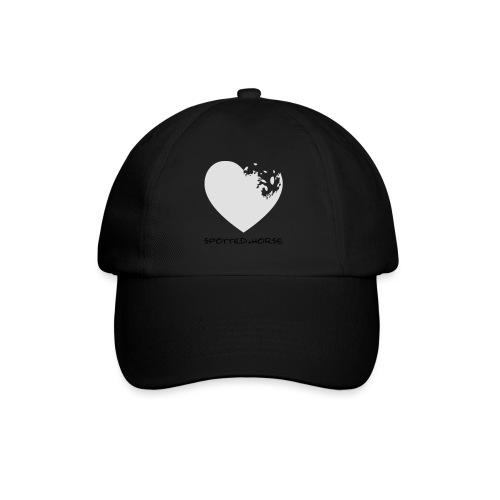 Cuore Appaloosa (bianco/rosso) - Cappello con visiera