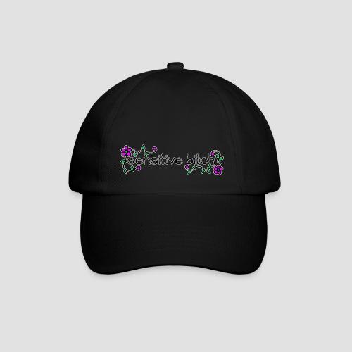 Sensitive Bitch (white outline) - Baseball Cap