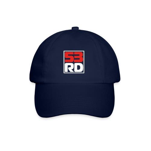 53RD Logo kompakt umrandet (weiss-rot) - Baseballkappe