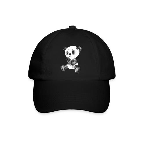 Panda bjørn hvid scribblesirii - Baseballkasket
