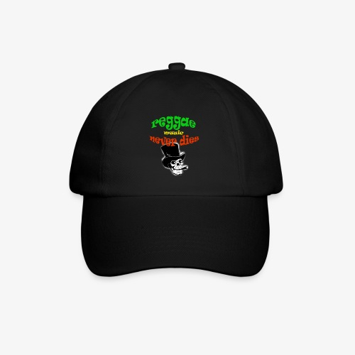 Reggae Muziek Never Dies - Baseballcap