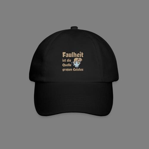 Faulheit - Baseballkappe