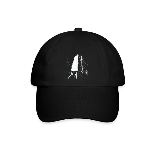 howling geometric wolf - Baseballkappe
