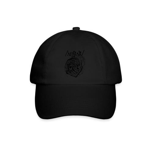 logo mit wesen (schwarz) - Baseballkappe