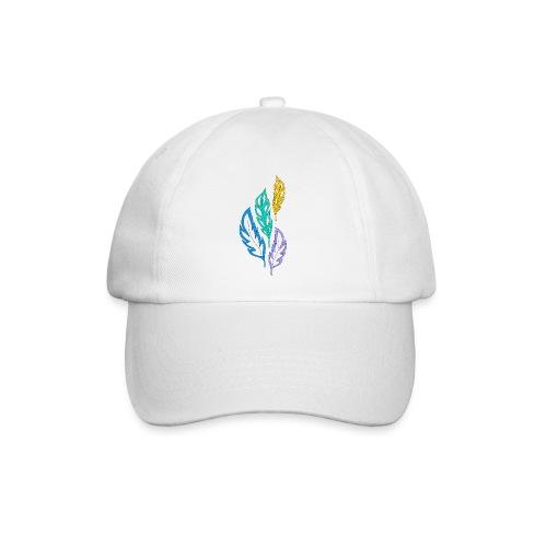 piume astratte multicolore - Cappello con visiera