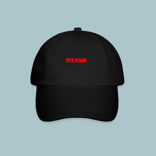 sixxam logo rood - Baseballcap