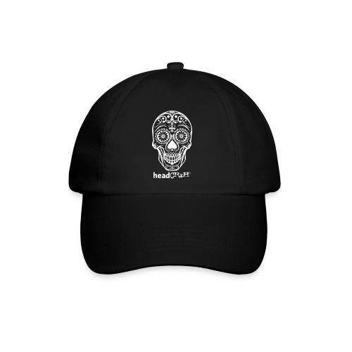 Skull & Logo white - Baseballkappe