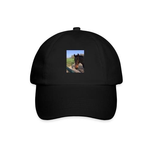 Met bruin paard bedrukt - Baseballcap