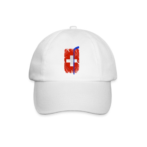 Schweizer Flagge Hockey - Baseballkappe