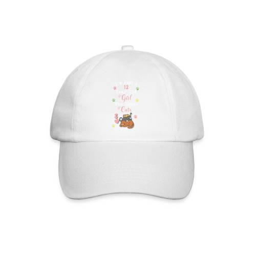 I'm just a 12 year old girl who loves cats - Casquette classique
