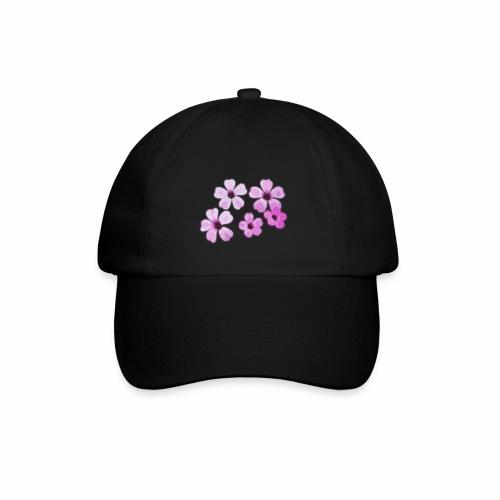 Blumen violett - Baseballkappe