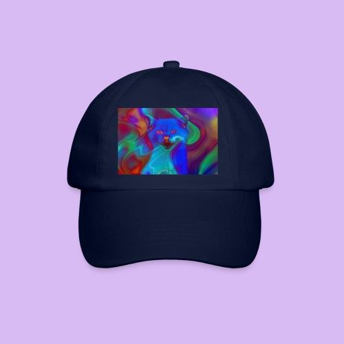 Gattino con effetti neon surreali - Cappello con visiera