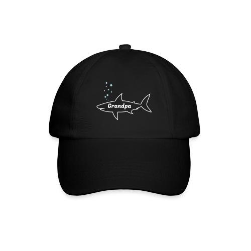 Grandpa shark - Fathers day gift - matching outfit - Baseballkappe
