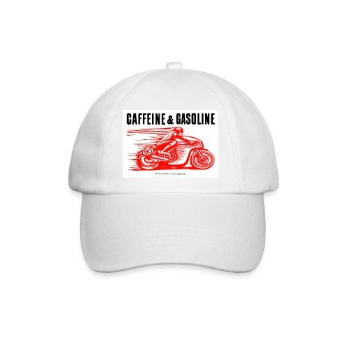 Caffeine & Gasoline black text - Baseball Cap