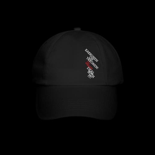 teksti logo musta tausta - Lippalakki