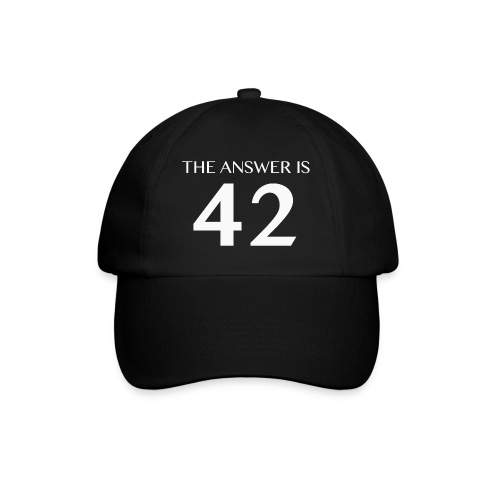 The Answer is 42 White - Baseball Cap