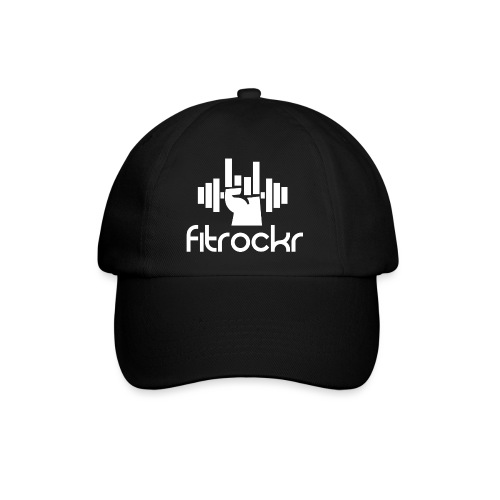 Fitrockr Logo Weiß - Baseballkappe