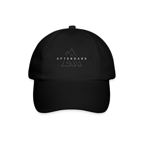 Afterdark_Outline_White_B - Baseball Cap