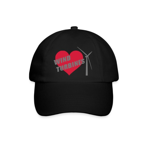 wind turbine grey - Baseball Cap
