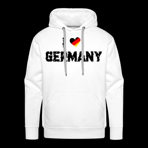 I Love Germany - Männer Premium Hoodie