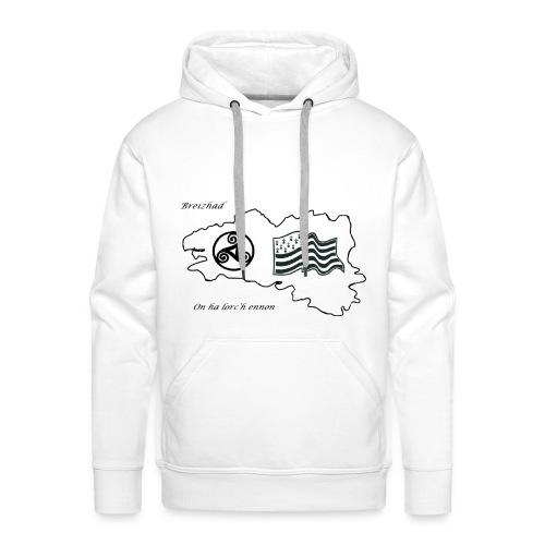 t-shirt Fier d'etre breton - Sweat-shirt à capuche Premium pour hommes