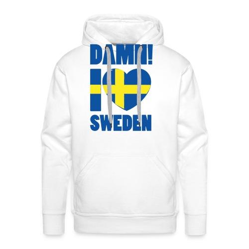 Damn! I love Sweden - Premiumluvtröja herr