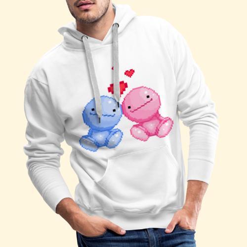 Nohohon amoureux de la Saint Valentin - Sweat-shirt à capuche Premium pour hommes
