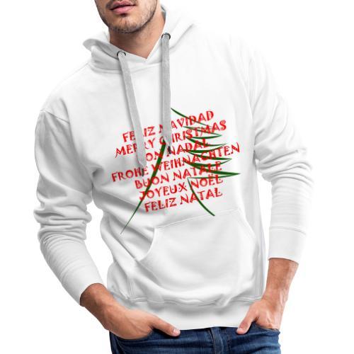 Feliz Navidad - Sudadera con capucha premium para hombre